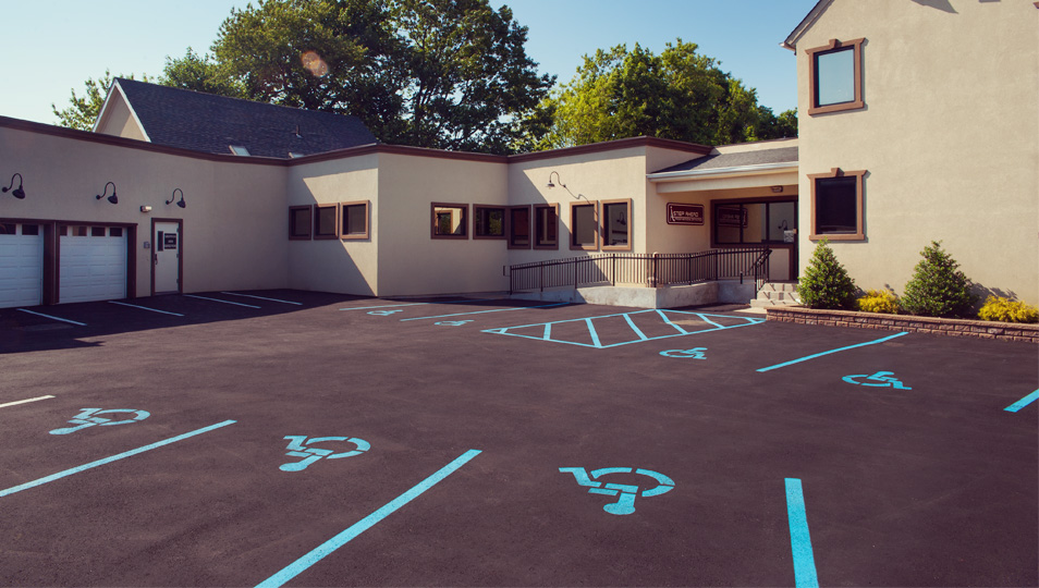 Our newly renovated parking lot sets the tone for what matters: accessibility.